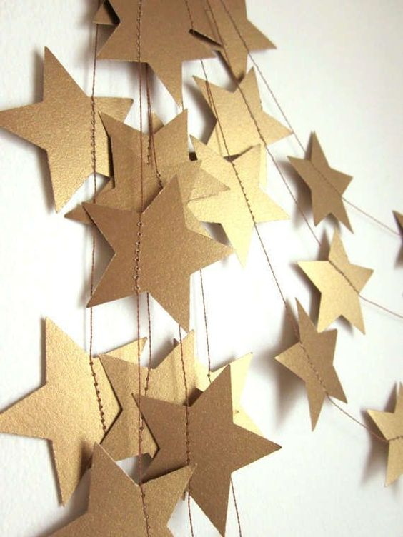 addobbi e decorazioni di Natale con le stelle