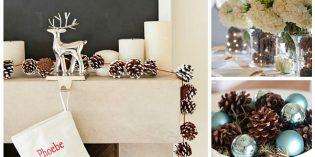 Idee per decorare la tavola di Natale con le pigne