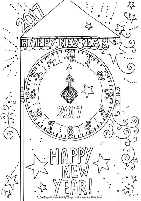 disegni-da-colorare-di-capodanno_orologio