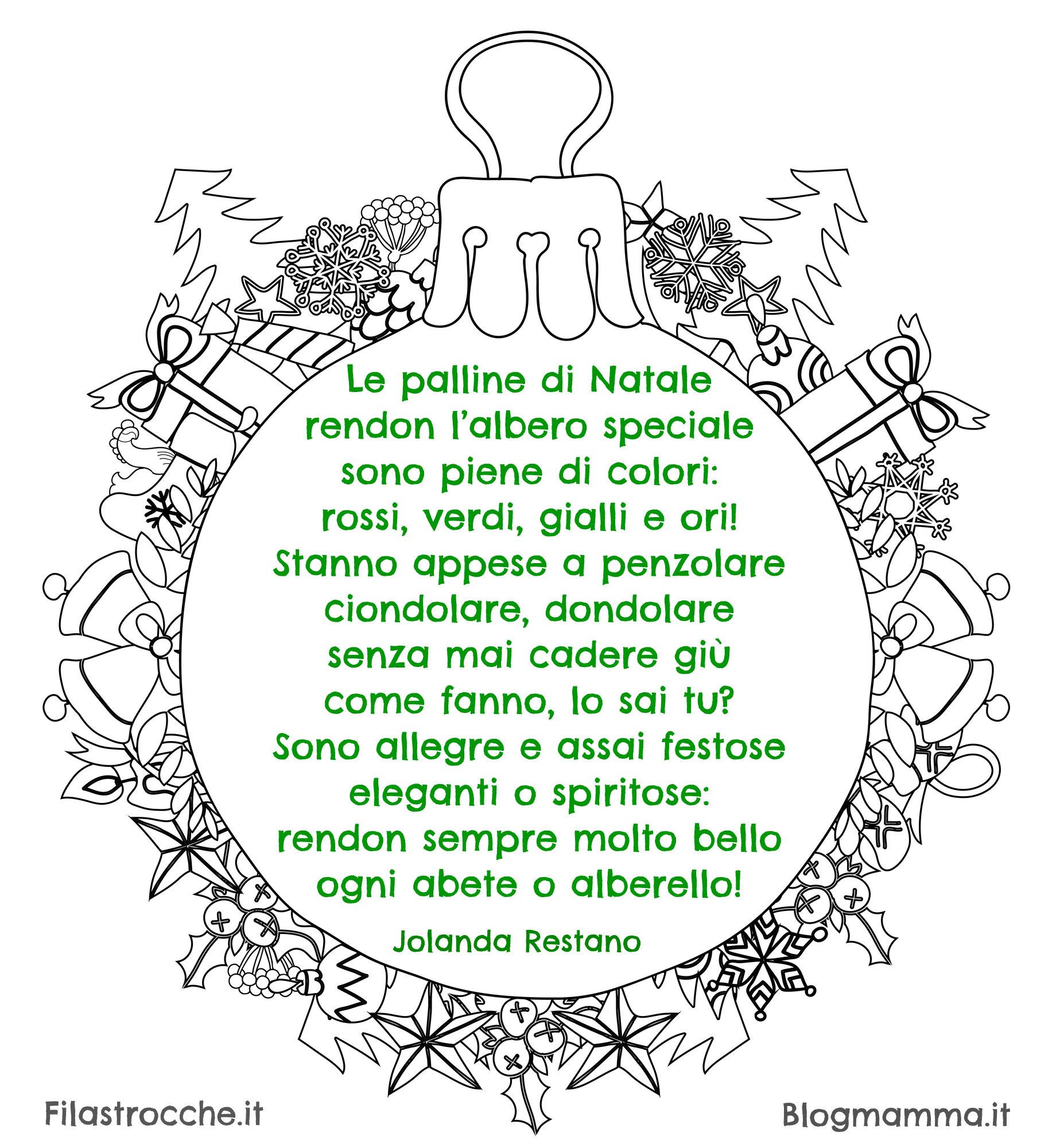 filastrocche di natale in inglese e italiano per bambini