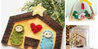 Mini presepe fai da te da creare con i bambini a Natale