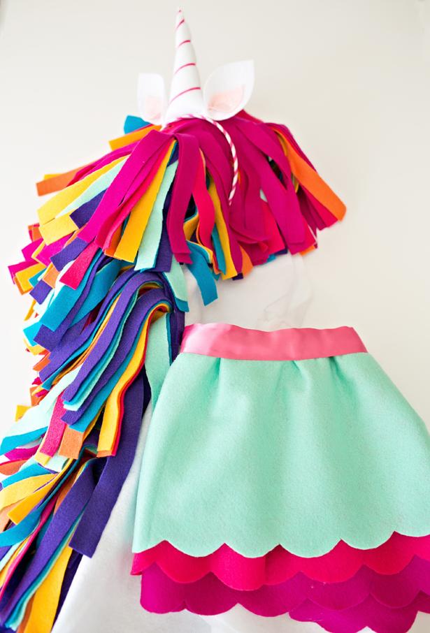 Costume di carnevale fai da te da unicorno per bambini_senza ago e filo