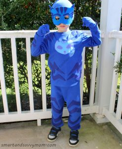 costume di Gattoboy dei PJ Masks fai da te