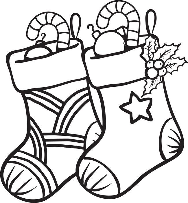 Disegni della Befana da colorare_calze-con-doni