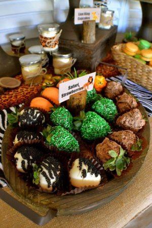 Festa di compleanno a tema The Lion Guard_fragole di cioccolato