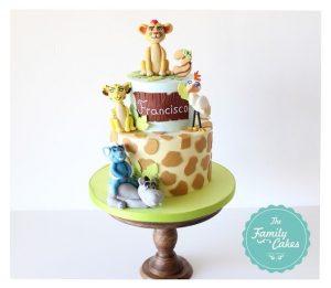 festa a tema The Lion Guard_torta colori pastello