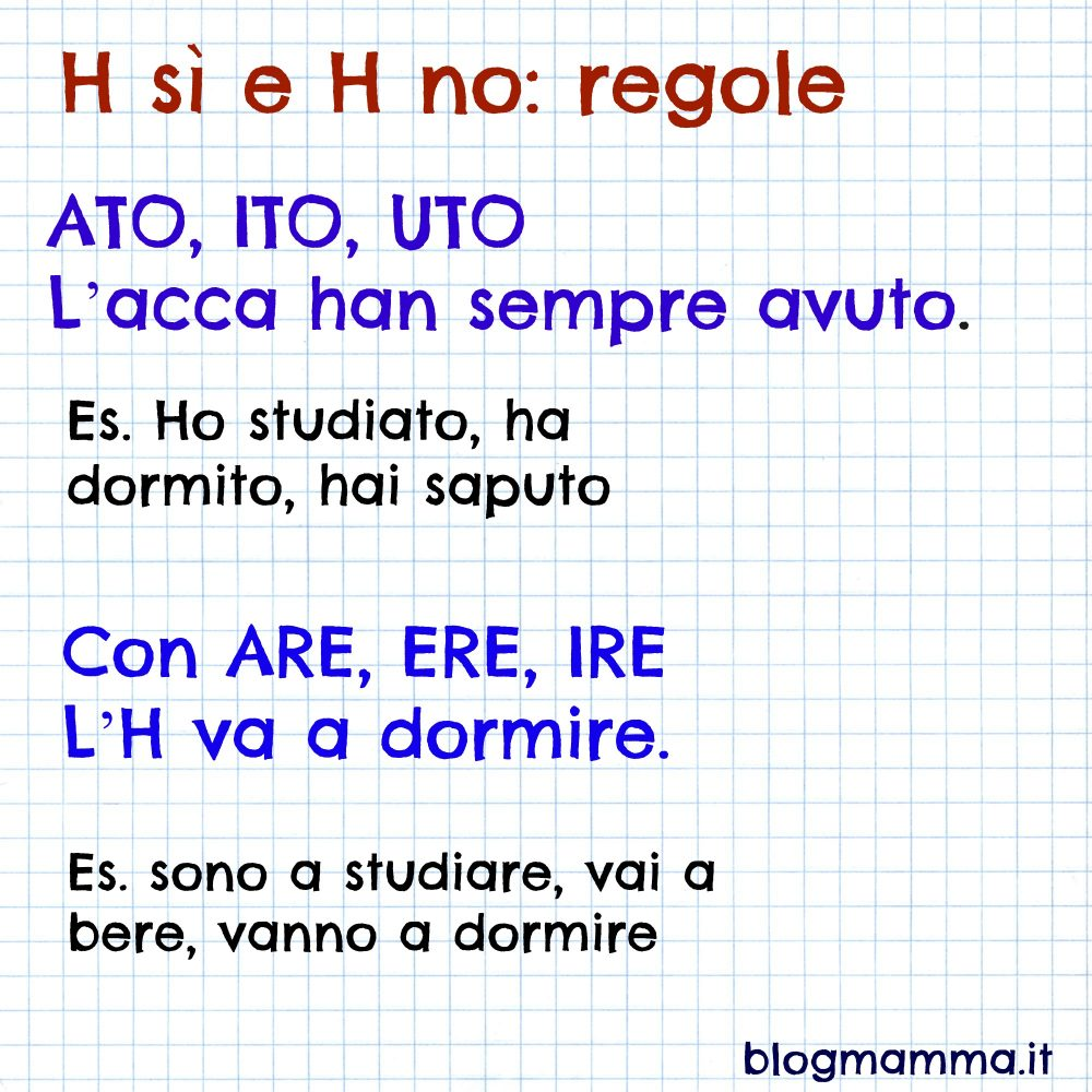 ortografia elementari uso H