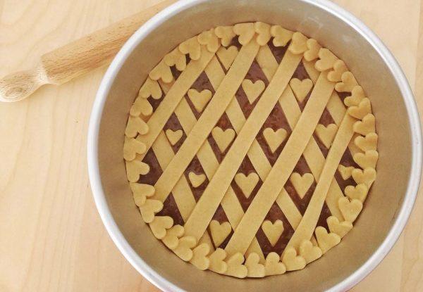 5 Dolci facili per San Valentino_crostata con cuoricini