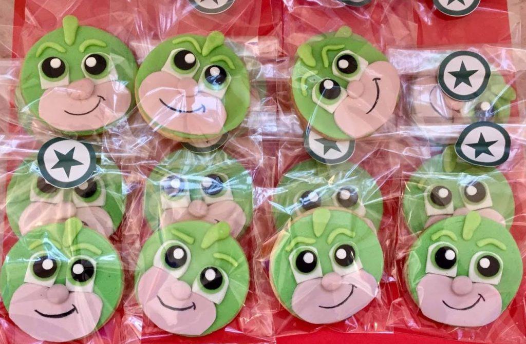 Biscotti dei PJ Masks con la pasta di zucchero_Geko