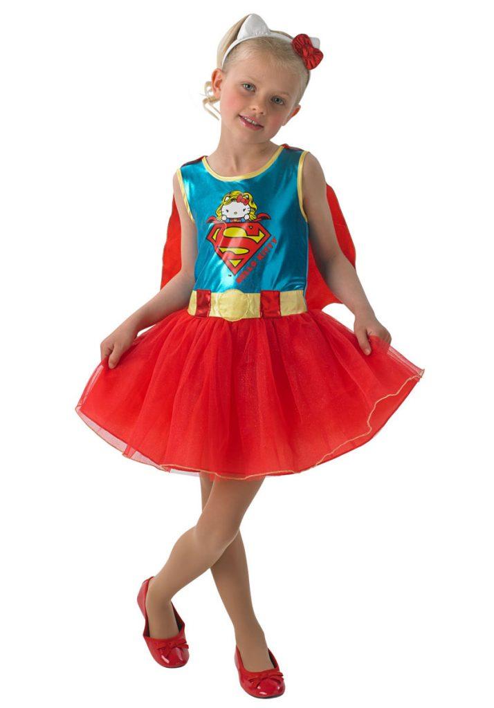 Costumi di carnevale da supereroi per bambine_Superman-Hello kitty