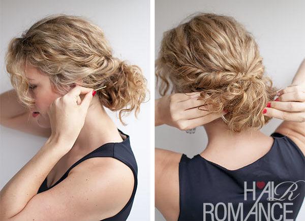 come raccogliere i capelli ricci acconciatura romantica
