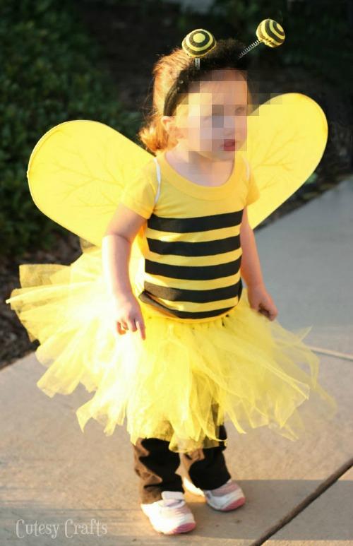 costume di Carnevale ape con gonna di tulle