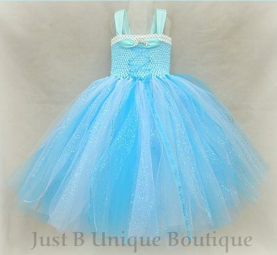 costume di Carnevale Frozen con gonna di tulle