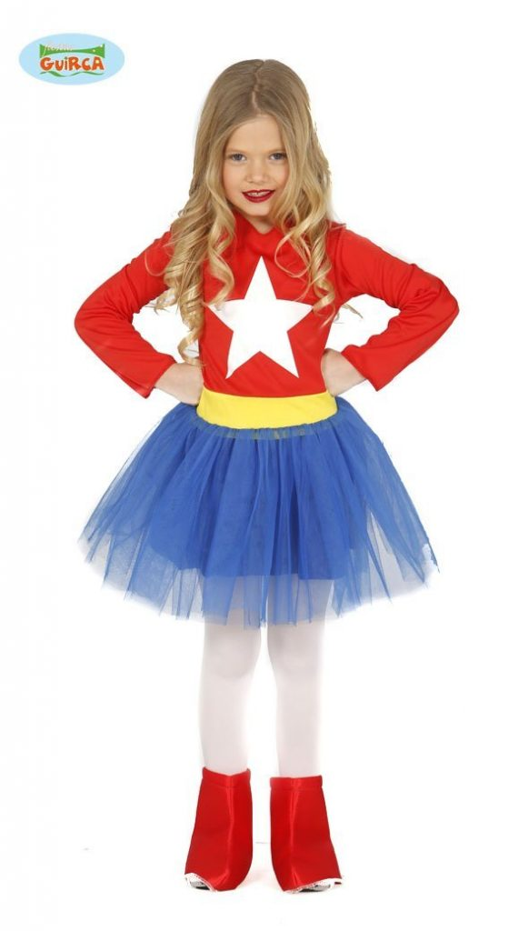 costumi di carnevale dei supereroi per bambine_capitan america