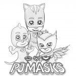 disegni da colorare dei PJ Masks + scritta