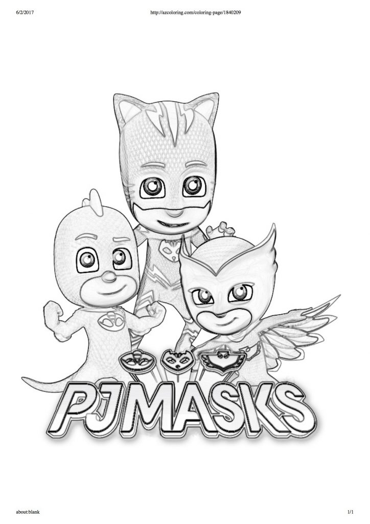 Disegni da colorare dei pj masks scritta for Pjmask da colorare