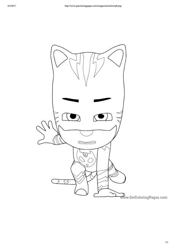 Disegni Da Colorare Dei Pj Masks Gatto Boy In Azione