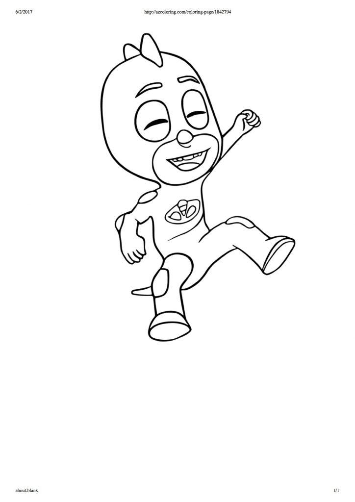 disegni da colorare dei PJ Masks_Geco che ride