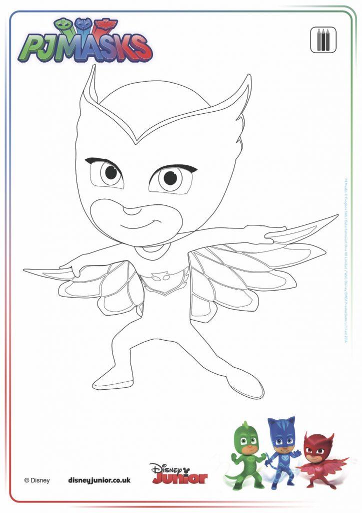 disegni da colorare dei PJ Masks_Gufetta