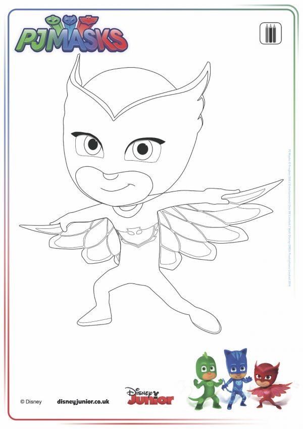 disegni da colorare dei pj masks gufetta