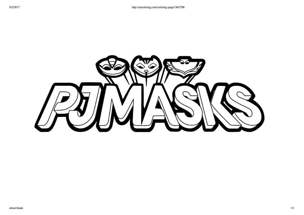 Disegni Da Colorare Dei Pj Masks Scritta E Stemma Blogmamma It