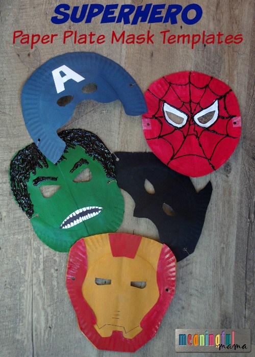 maschere di carnevale facili e veloci supereroi