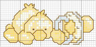 Schemi con paperelle a punto croce per lenzuolini for Disegni punto croce per bavaglini