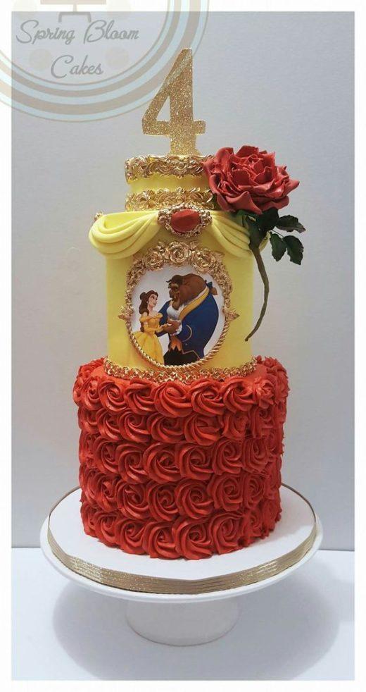 Molto Le 10 torte della Bella e la Bestia più belle per feste di  AU46