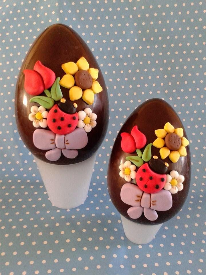 Decorazioni di pasqua in pasta di zucchero da fare con i bambini - Uova di pasqua decorati a mano ...