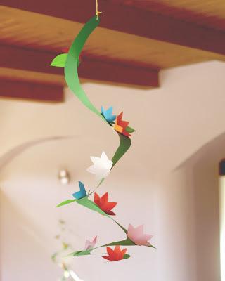 spirale con fiori ideale per addobbi di primavera