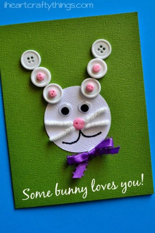 biglietti di pasqua per la scuola primaria con coniglietto