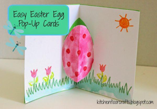 biglietti di Pasqua fai da te pop up