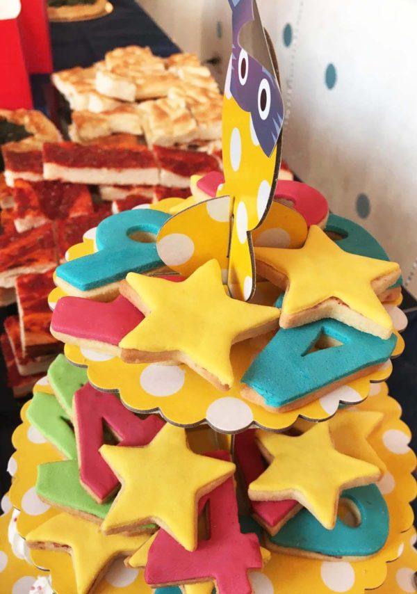 biscotti decorati per compleanno_stelle e numeri