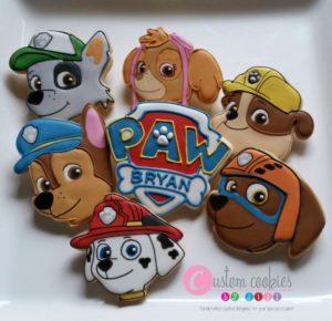 biscotti della Paw Patrol decorati con ghiaccia reale_cuccioli