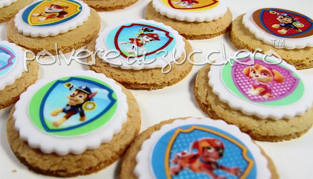 biscotti della Paw Patrol facili decorati con cialda