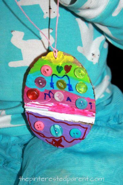 uova decorate per lavoretti di Pasqua facili