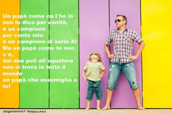 poesie per la festa del papà e immagine padre e figlio