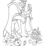 Belle e la Bestia e personaggi _disegni della Bella e la Bestia da colorare