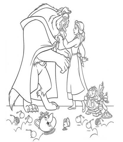 Belle e la bestia e personaggi disegni della bella e la for Disegni bella e la bestia
