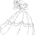 Belle _disegni della Bella e la Bestia da colorare