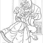 Belle e la Bestia ballano_disegni della Bella e la Bestia da colorare