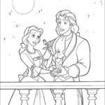 Belle il principe e la rosa_disegni della Bella e la Bestia da colorare