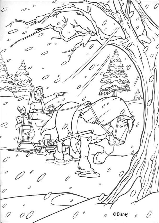Belle nel bosco innevato disegni della bella e la bestia for Disegni la bella e la bestia