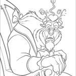 La Bestia si innamora_disegni della Bella e la Bestia da colorare