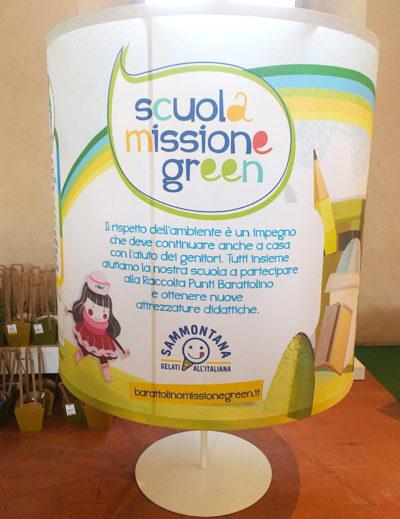 Pannello Sammontana progetto scuola missione green