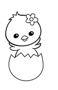 disegni di Pasqua da colorare: pulcino