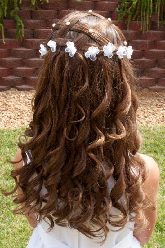 Famoso Pettinature con capelli lunghi adatte a prima comunione e altre  CQ88