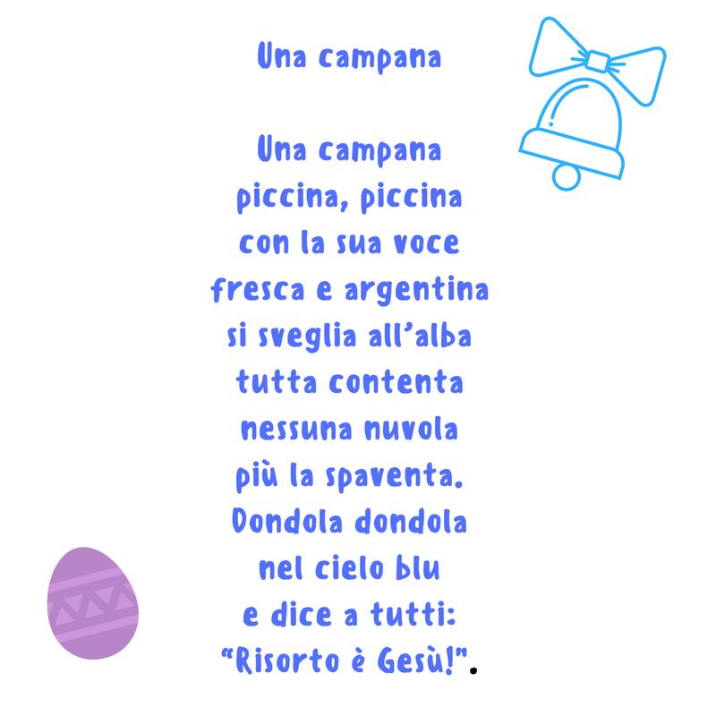 Ben noto Poesie e filastrocche di Pasqua bambini scuola primaria anche in  MG01