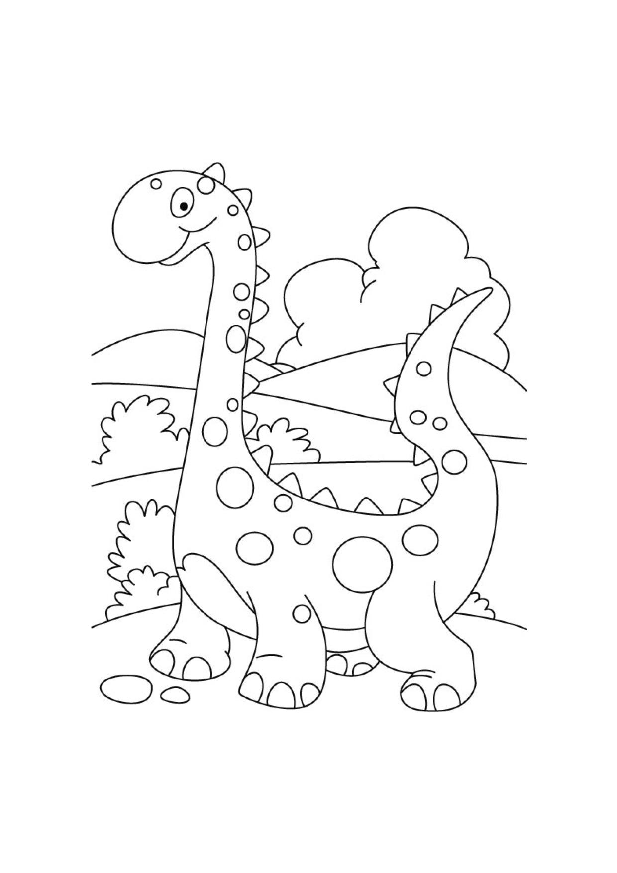 Dinosauro Da Colorare Per Bambini.Disegni Da Colorare Dei Dinosauri Per Bambini Blogmamma It