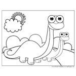 Disegni da colorare dei dinosauri_cuccioli di dinosauri